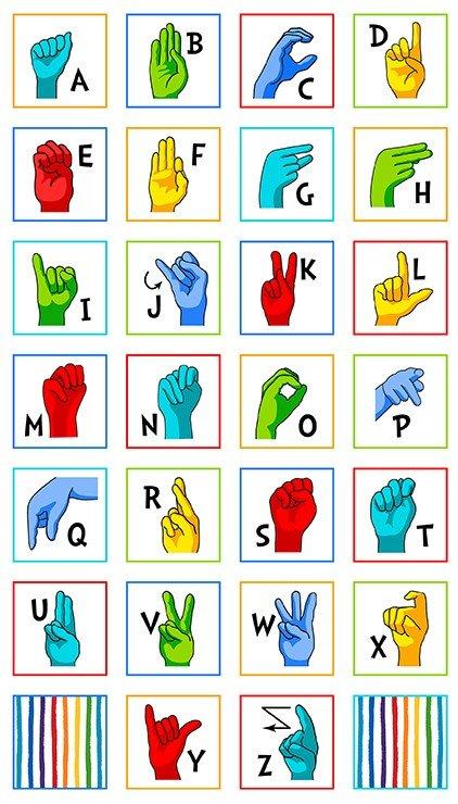 Sign Language Alphabet SRK-20220-1 White