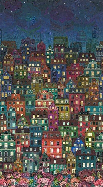 Happy Place Skyline Night WELD-19454-438