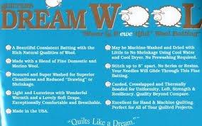 Quilters Dream Batting Wool Crib