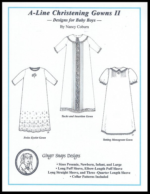 A-Line Christening Gowns II
