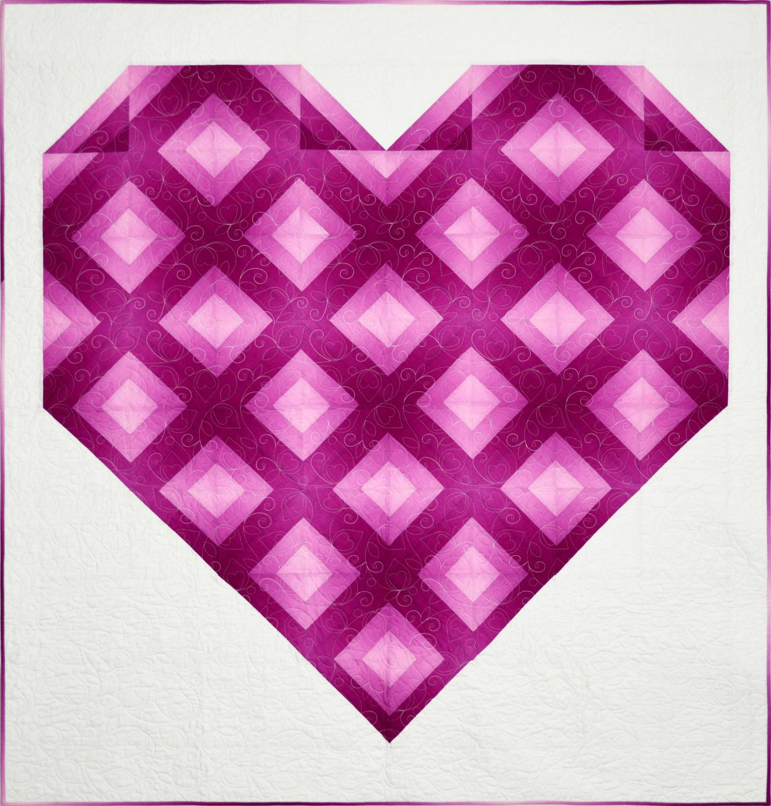 Faceted Ombre Heart
