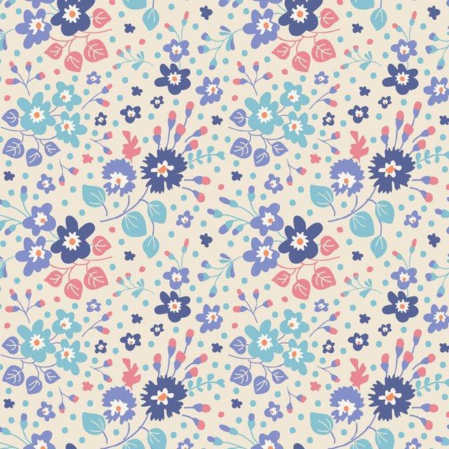 Flower Confetti Blue