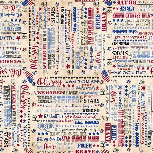 Star Spangled Banner Tan
