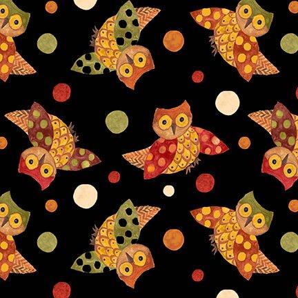 Give Thanks II Owls Black