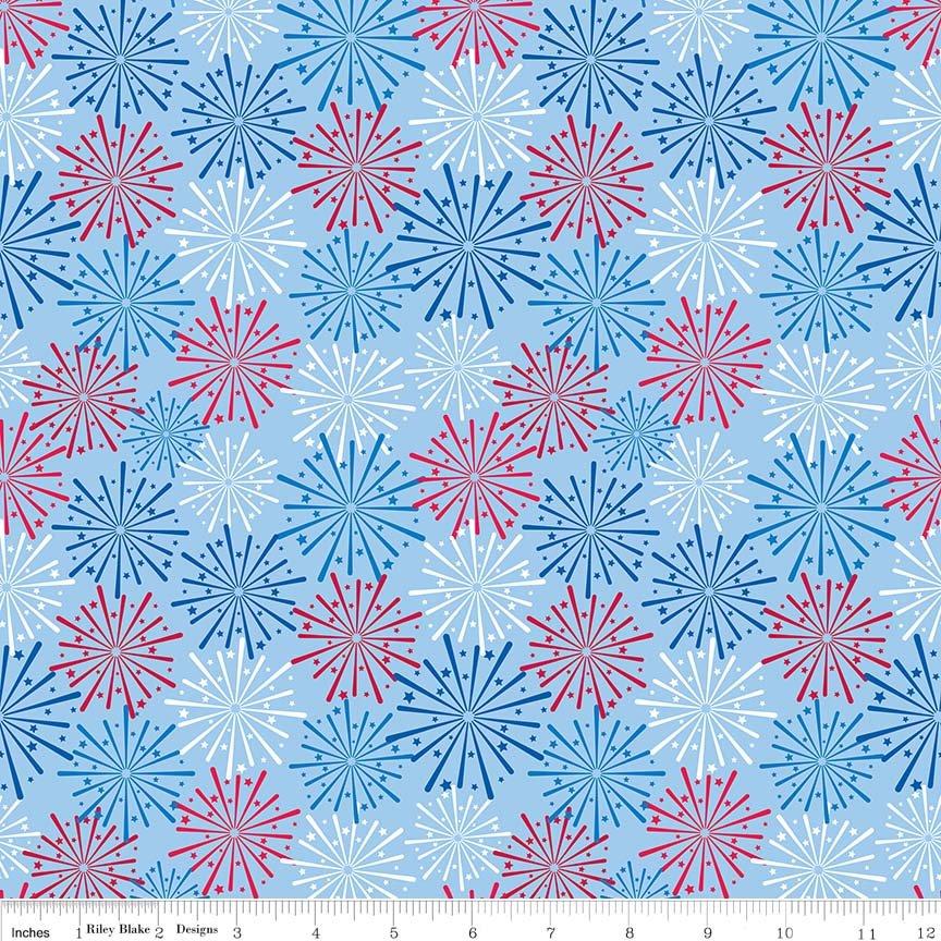 Patriotic Picnic Fireworks Blue