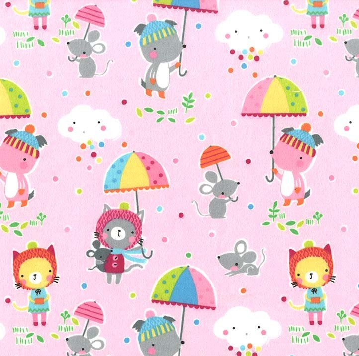 Puddle Play on Flannel