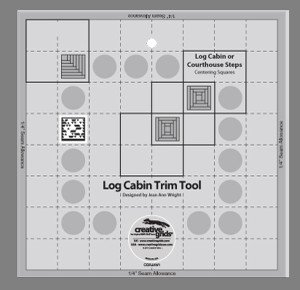 Creative Grids Log Cabin Ruler