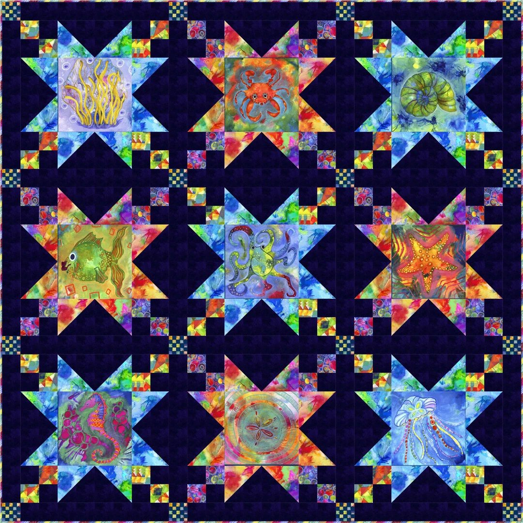 Living Coastal Quilt Kit (binding included)