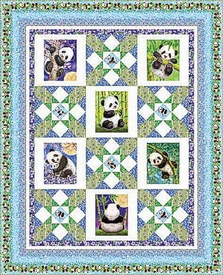Panda Sanctuary quilt kit