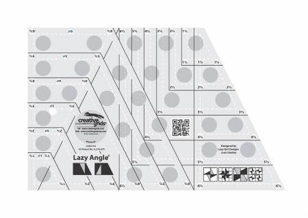 Creative Grids Lazy Angle Ruler 6-1/2in x 10-1/2in