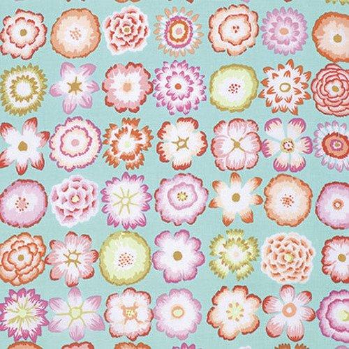 Button Flowers - Aqua