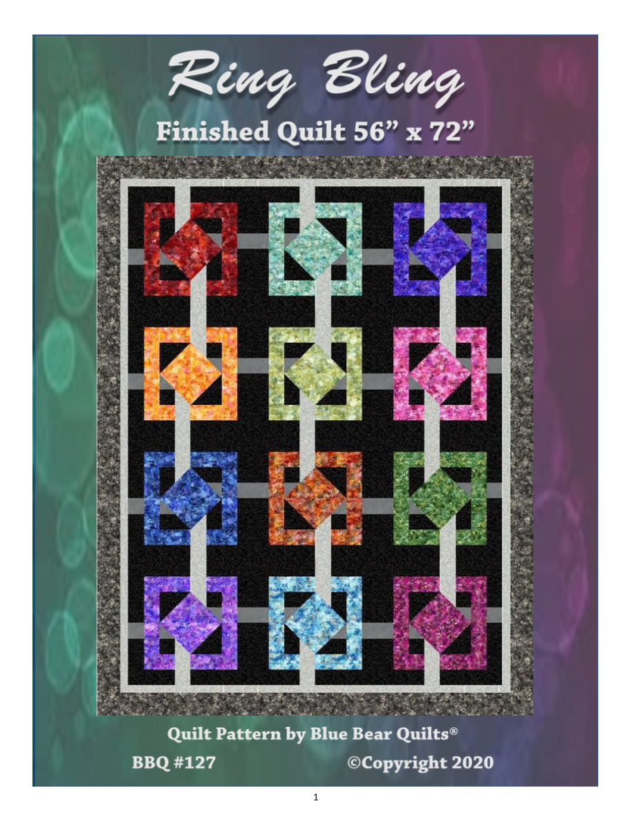 Ring Bling quilt kit (binding not included)