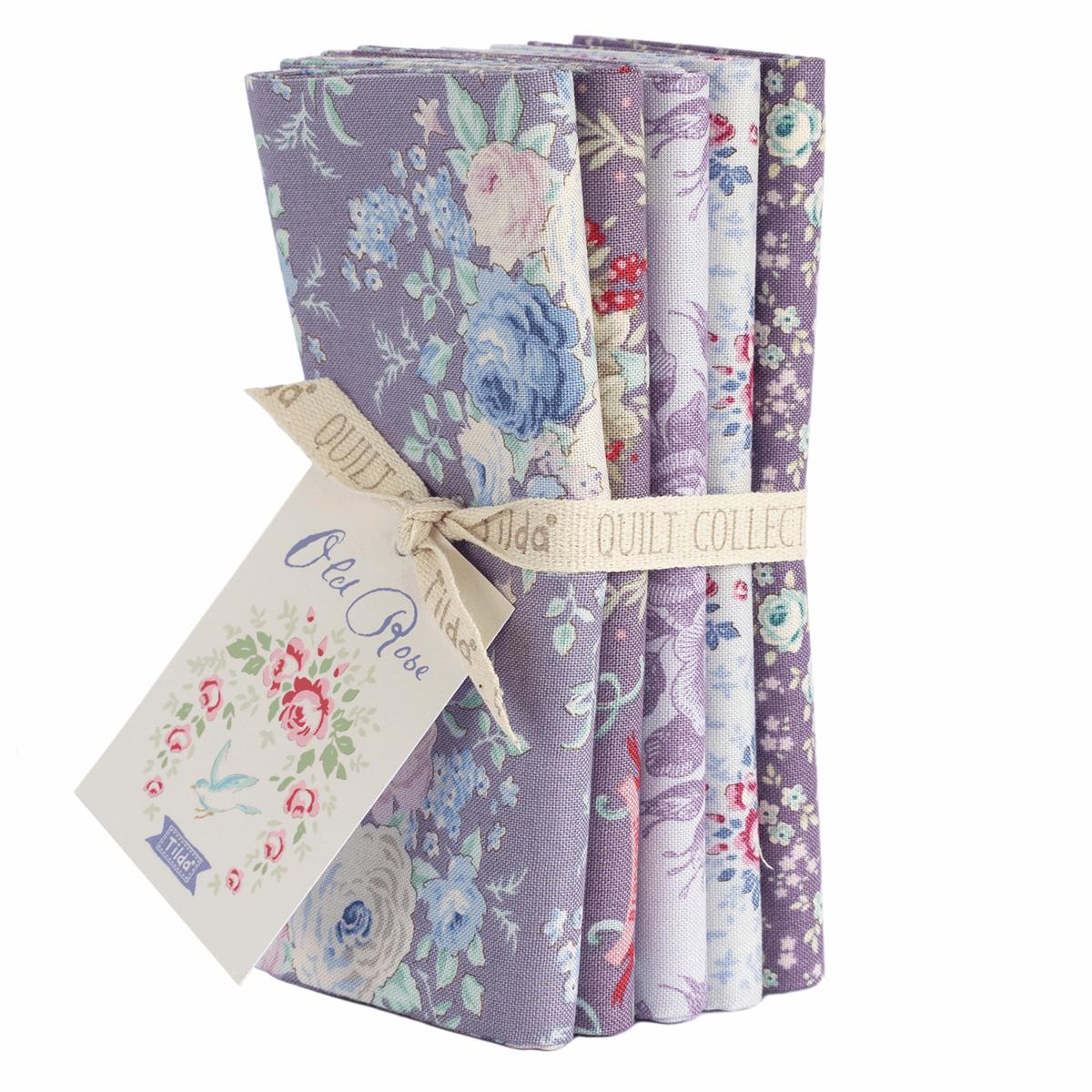 Old Rose Fat Quarter Bundle - Lilac / Lavender