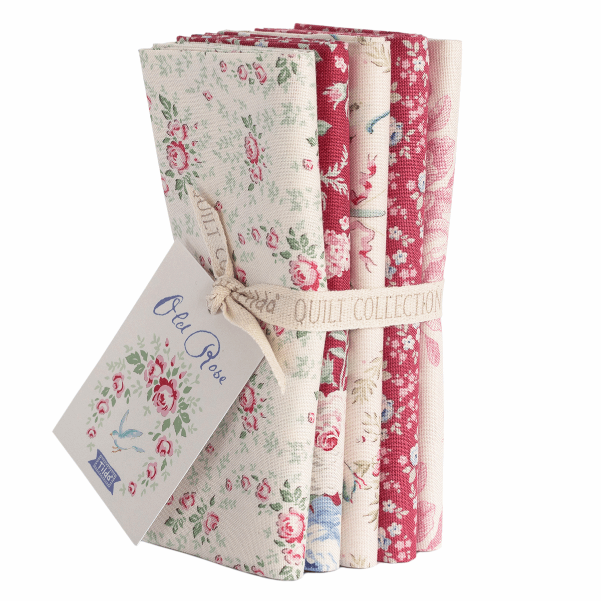 Old Rose Fat Quarter Bundle - Red & White