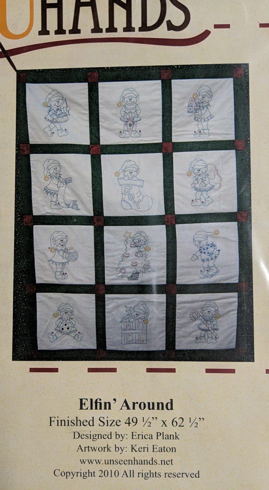 Elfin Around Quilt & Embroidery Pattern