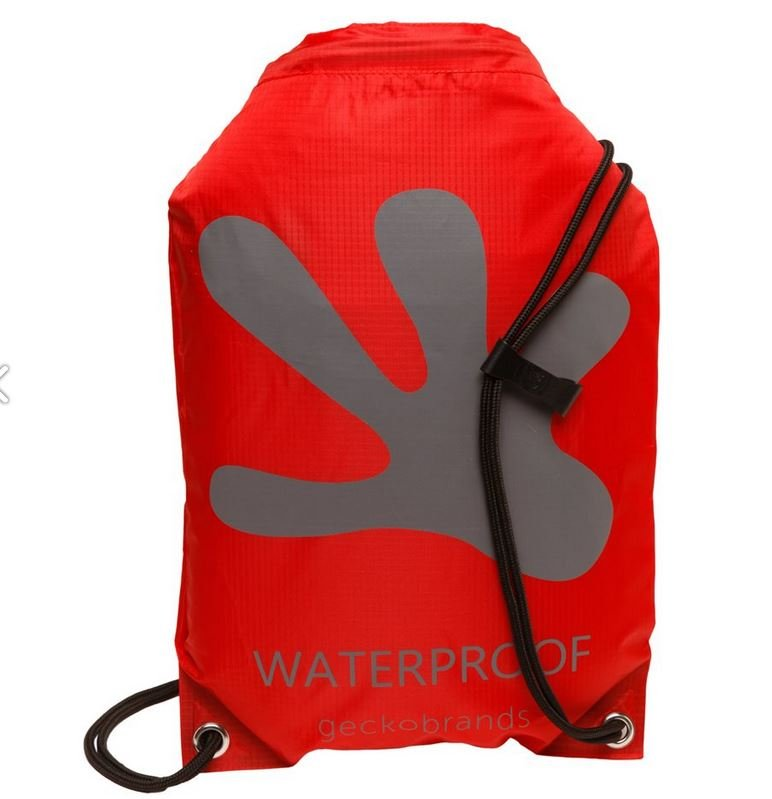 Gecko Waterproof Drawstring Backpack