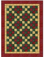 Nine Patch 3 Yard Batik Quilt Kit