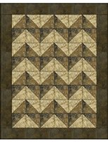 Chevron 3 Yard Batik Quilt Kit