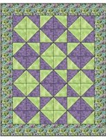Tumbling Triangles 3 yard Quilt Kit