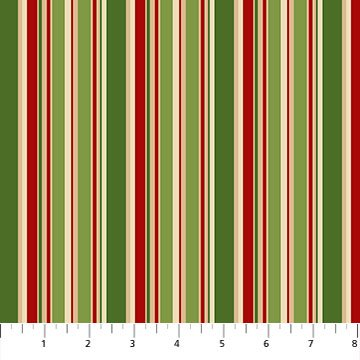 Christmas Old Time Christmas Green Multi 24140-74