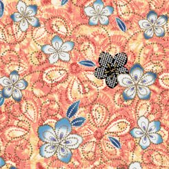 Akemi Tossed Floral Coral 1649-27790-C