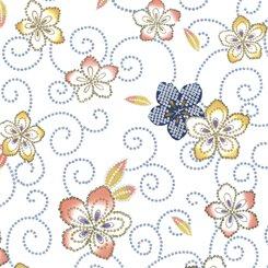 Akemi Tossed Floral White 1649-27790-Z