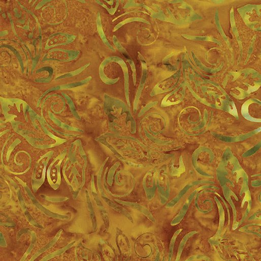 Batik Banana Leaf Gold