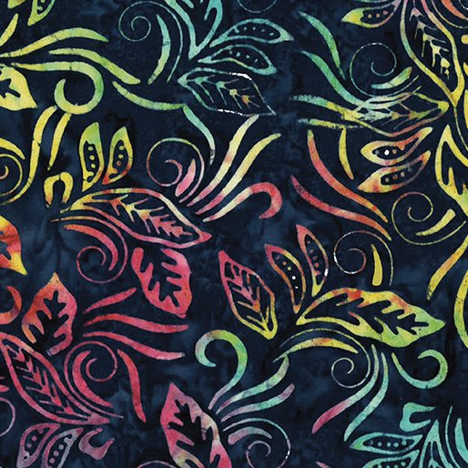 Batik Banana Leaf Navy Multi