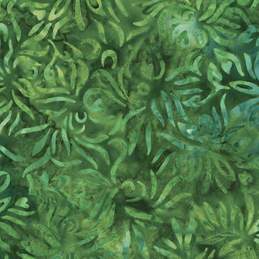 Batik Outline Floral Everglade