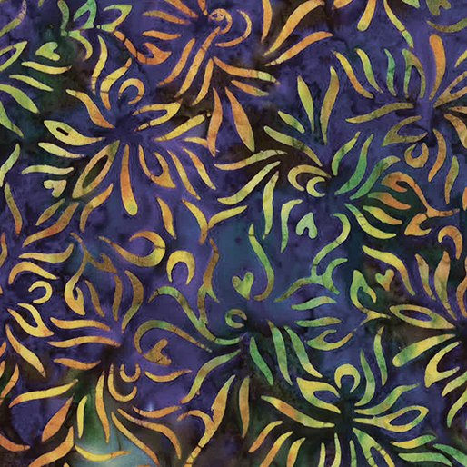 Batik Outline Floral Violet Multi