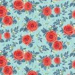 Hedge Rose Aqua Lrg Rose C7900