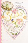 Embroidery Stitch Heart Sampler