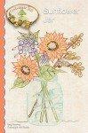 Embroidery Sunflower Jar