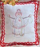 Embroidery Crazy Quilt Snowman
