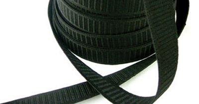 Elastic 1 Flat Non Roll Elastic Black