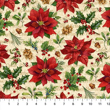 Christmas Old Time Christmas Beige Multi DP24136-12