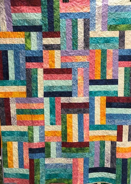 Popsicle Sticks Quilt  47.5 x 64