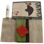 Household Mug Rug Blackbird