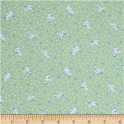 30s Print Apple Farm Green C5454