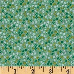 30s Print Apple Farm Green C5456