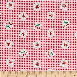 Sale 30s Print Apple Farm Red C5451