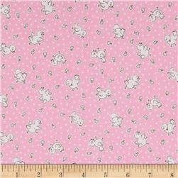 30s Print Apple Farm Pink C5454