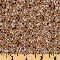 30s Print Apple Farm Brown C5456