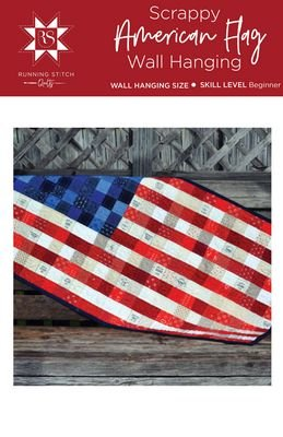 Household Scrappy American Flag Wall Hanging