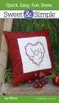 Embroidery Sweet & Simple Joy Pillow