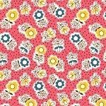 30s Print Aunt Grace SS Pink 5864-0326