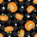 Ghostly Glow Town 1674G 99 Black Tossed Pumpkins
