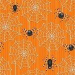 Ghostly Glow 1681G 33 Orange Spiderwebs