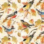 Forest Dance 39612 297 Cream Birds Allover