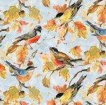 Forest Dance 39612 497 Light Blue Birds Allover